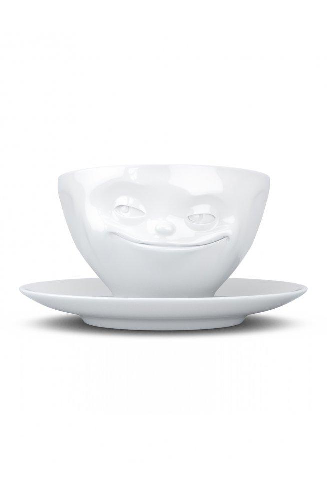 Хитрая улыбка - чашка с блюдцем (200 мл)
