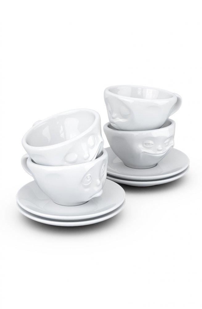 Набор из 4 чашек для эспрессо с блюдцами (100 мл.)